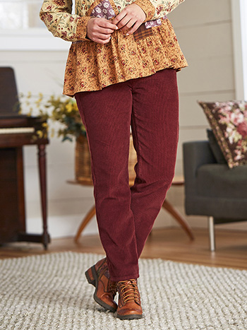 Cache Corduroy Pull On Pant
