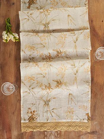 Bamboo Garden Linen Runner