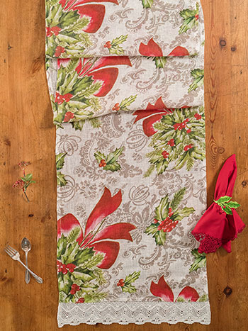 Deck the Holly Linen Runner