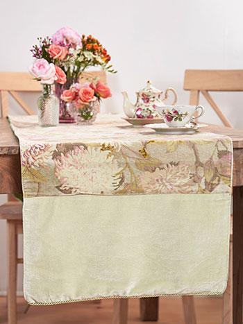 Tea Garden Velvet Runner