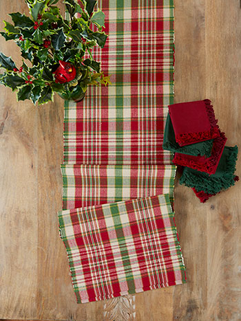 Yuletide Plaid Runner