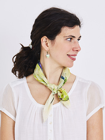 Hummingbird Scrunchie with Scarf