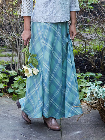 River Plaid Skirt