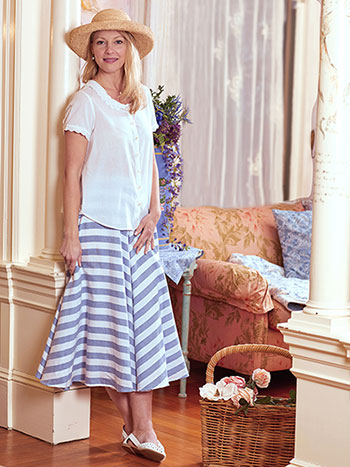 Nantucket Stripe Skirt