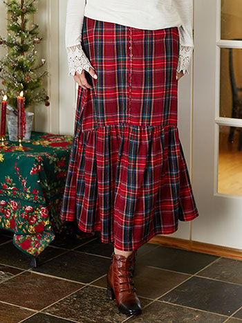 Carole Plaid Skirt