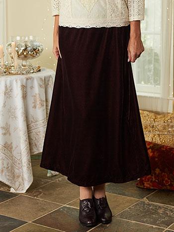 Nicole Velvet Skirt