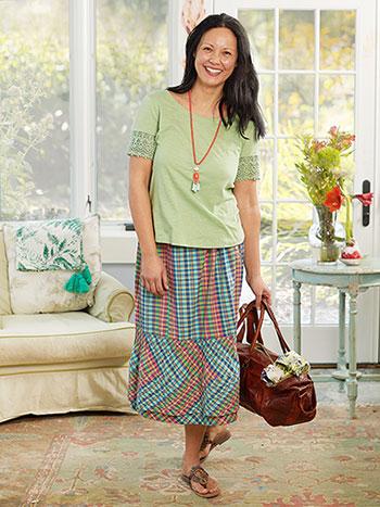 Cape Cod Check Skirt