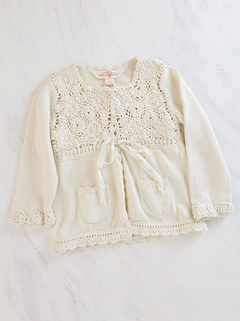 Ribbon Rose Girls Sweater