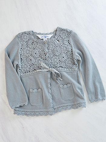 Ribbon Rose Girls Sweater