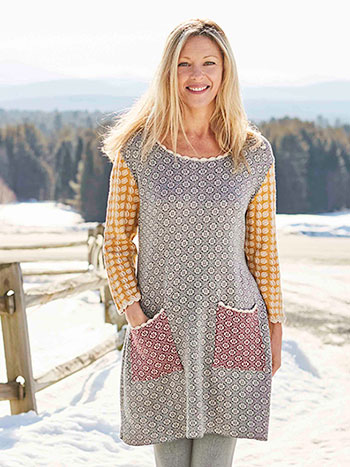 Alpine Patchwork Tunic Sweater