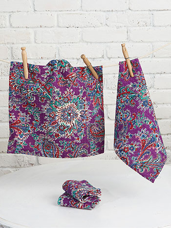 Rhapsody Paisley Tiny Towel Set of 4