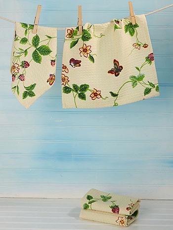 Strawberry Fields Tiny Towel Set of 4