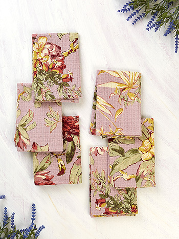 Hydrangea Dream Honeycomb Tiny Towel Set of 6