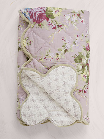 Cottage Rose Throw