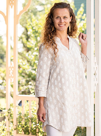 Tree of Life Linen Tunic