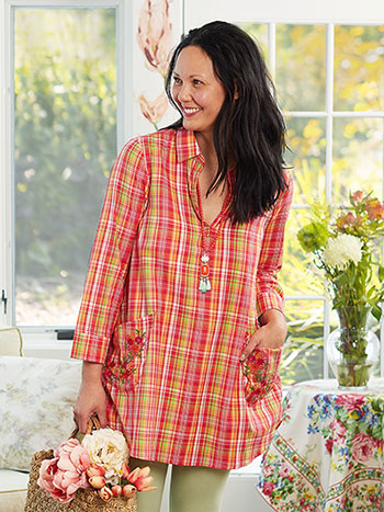 Watermelon Plaid Tunic