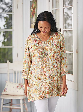 Orchid Study Tunic