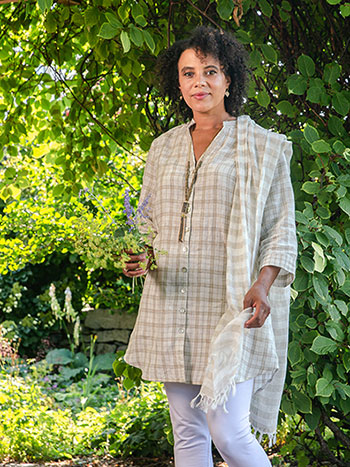 Vineyard Linen Check Tunic