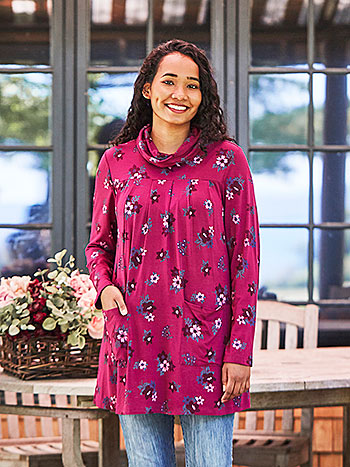 Pauline's Flower Jersey Tunic