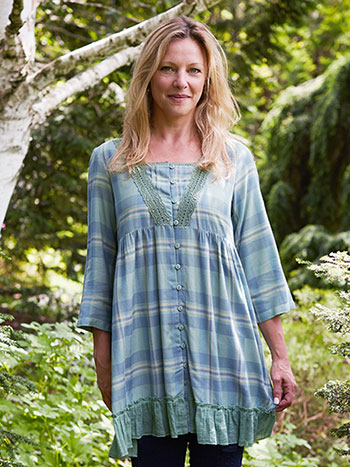 River Plaid Tunic