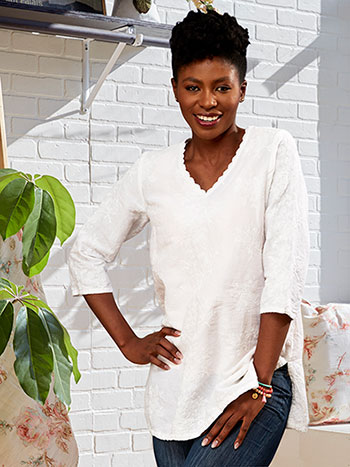 Angel Linen Tunic