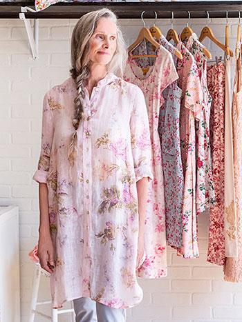 Rose Linen Tunic
