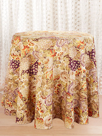 Autumn Gathering Round Tablecloth