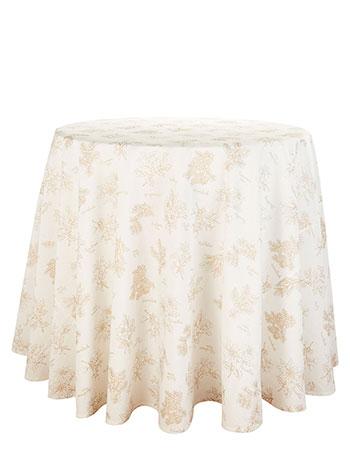 Christmas Botanical Round Tablecloth