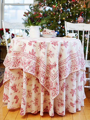 Christmas Botanical Tablecloth