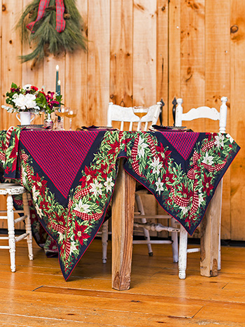 Christmas Cottage Tablecloth