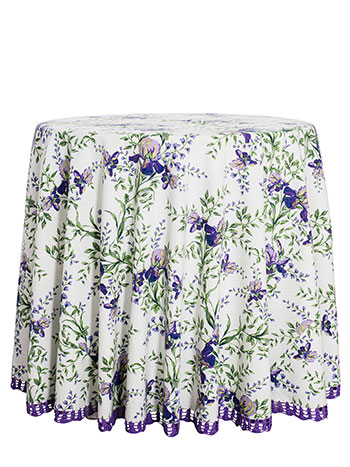 Irresistible Iris Crochet Round Tablecloth