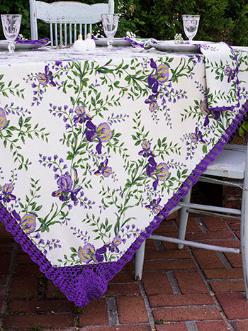 Irresistible Iris Crochet Tablecloth