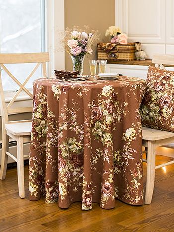 Cottage Rose Round Cloth