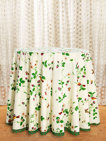 Strawberry Fields Crochet Round Tablecloth