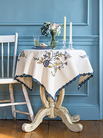 Jacobean Embroidered Tablecloth