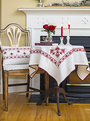Lucia Embroidered Tablecloth