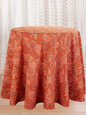 Garden Paisley Round Tablecloth