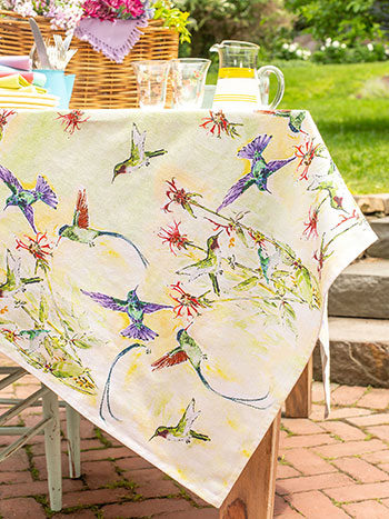 Hummingbird Tablecloth