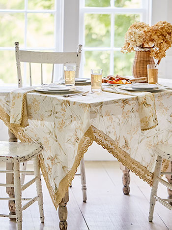 Bamboo Garden Linen Tablecloth