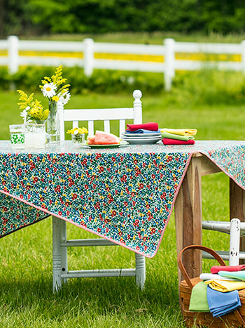 Primary Blooms Oilcloth
