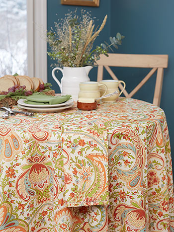 Paisley Fresco Round Tablecloth