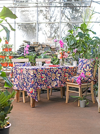 Orchid Study Outdoor Tablecloth
