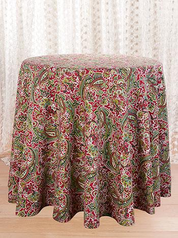 Priscilla's Paisley Round Tablecloth
