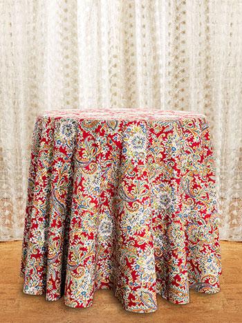 Rhapsody Paisley Round Tablecloth