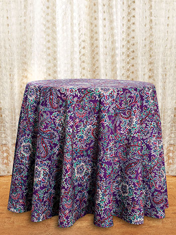 Rhapsody Paisley Round Tablecloth