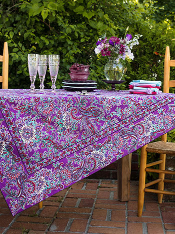 Rhapsody Paisley Tablecloth