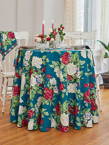 Rose Manor Round Tablecloth