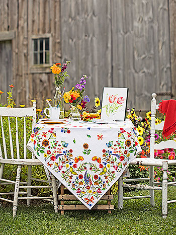 Sister Garden Tablecloth
