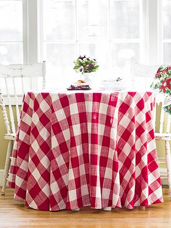 Cottage Check Round Cloth