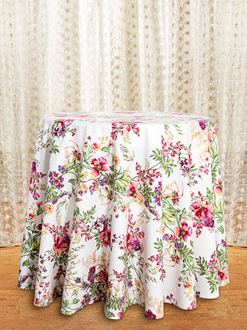 Wildflower Meadow Round Tablecloth